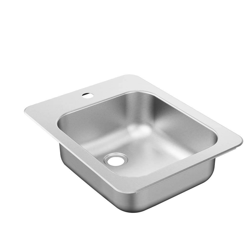 Moen G20210 2000 Series 20 Gauge Double Bowl Undermount Sink Stainless Steel