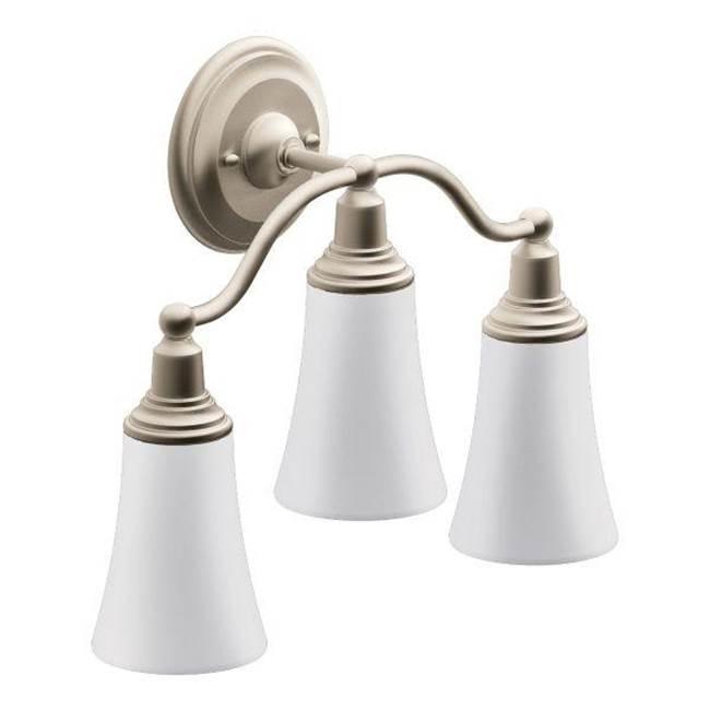 moen bathroom lights nickel tones the somerville bath kitchen