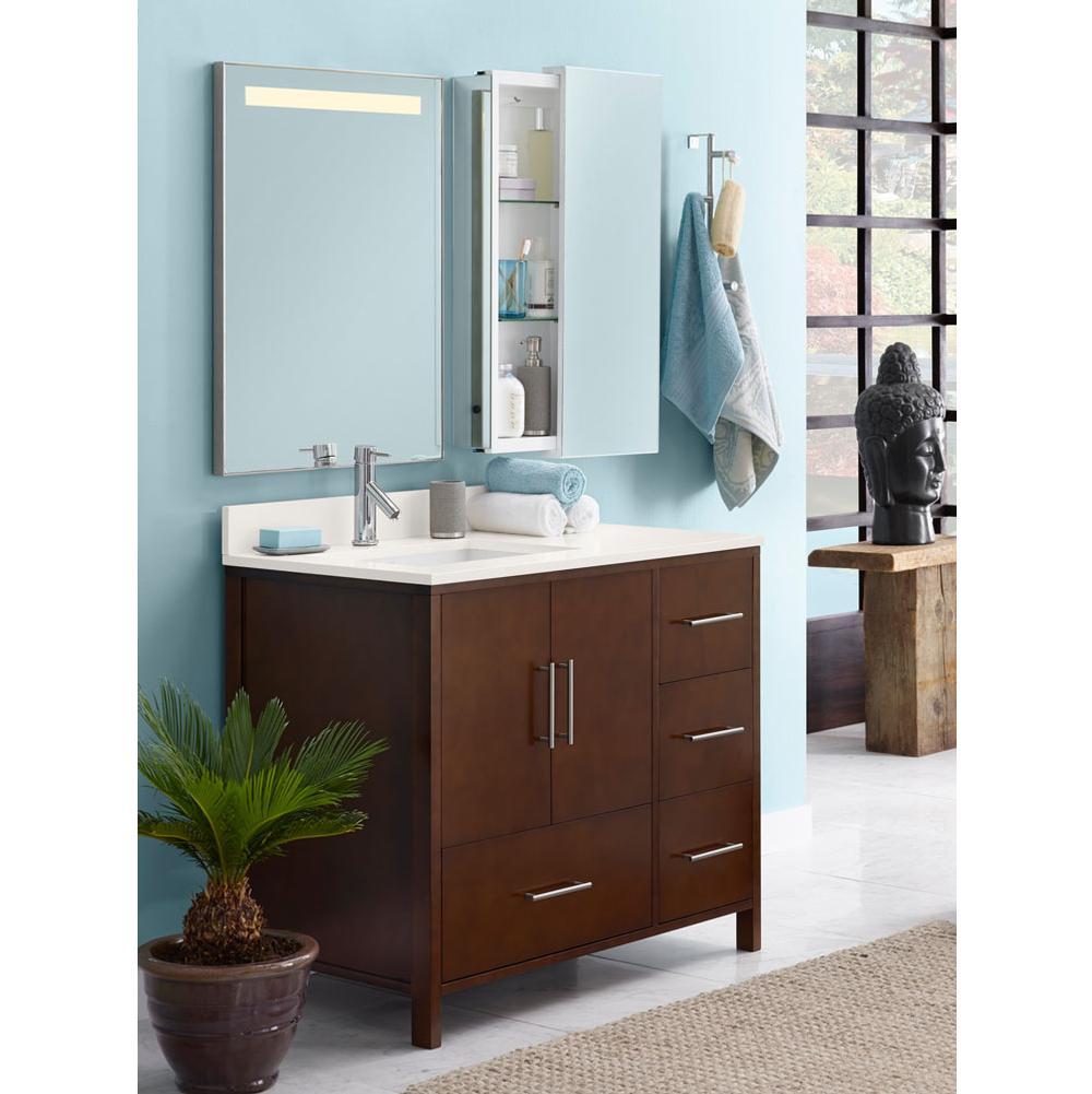 Ronbow   039236 3R H01   36u0027u0027 Juno Bathroom Vanity Cabinet Base In Dark  Cherry   Doors On Right