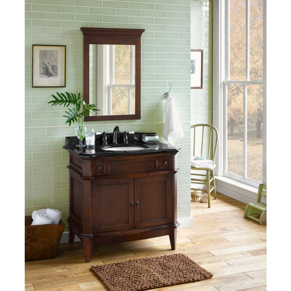 Ronbow 068436 F13 36 Solerno Bathroom Vanity Cabinet Base In Café Walnut